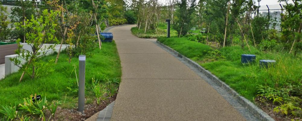 大橋ジャンクション屋上緑化施工計画